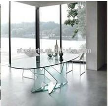 Steel-arts Modern mirrored dining table B2902