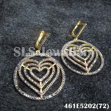 Earrings Jewelry Type and Children's,Men's,Unisex,Women's Gender 2014 wholesale rhinestone women fashion earring heart eardrop
