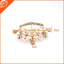hair trimmings safety pin brooches for wedding dress