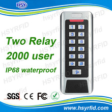 HSY-S215W Advanced smart home Metal 125KHz internal door access numeric keypad reader