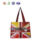 Durable environmental biodegradable recyclable printed national flag non woven bag