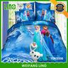 apple bedding set/frozen bedding set king size/satin cushion covers
