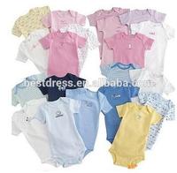 2014 new styles winter 2 Pcs new born baby jumpsuit cotton Grow Bodysuit Romper Onesie