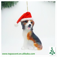 2015 vivid blown glass outdoor christmas decorations dog wholesales from direct factory in China