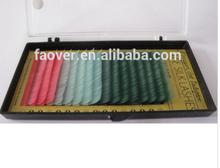 FO-21 Fashion Shinning softer colorful Individual Eyelash Extension /lovely lashes