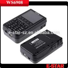 2014 good quality SATLINK WS-6908 DVB-S Digital Satellite Finder Meter WS6908 paypal accepted