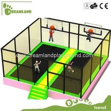 economic enclosure trampoline with basketball hoop