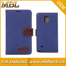 Fantasia Design vaqueiro para Samsung Galaxy Note4 caso carteira de couro