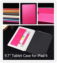 alibaba express hot sale Corn Maze Pattern PU Leather Flip Cover and PC Back Case 9.7 inch Tablet Case for iPad 6