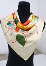 Lady Wonderful Pattern 100% silk printed scarf