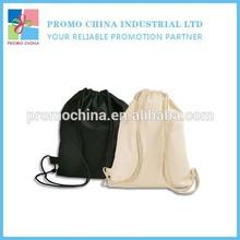 Wholesale Promotional Cheap Blank Cotton Drawstring Bag Backpack Bag