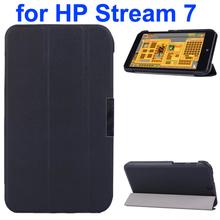 Karst Texture 3 Folding Pattern Magnetic Flip Leather Case for HP Stream 7