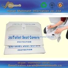 flushable, hygienic biodegradable disposable paper toilet seat cover
