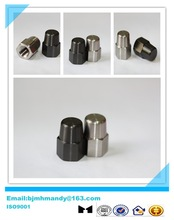 Motorcy 3/8-24 black and silver color titanium nut