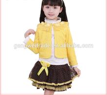 2015 Sweet Baby Girl Love Kids Spring Suits Lace Design Formal Sets