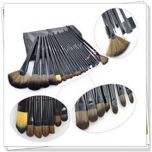 24pcs makeup brush set with classic black PU bag