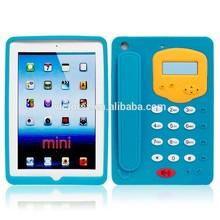 New for ipad mini Silicone Case Cover 3d Telephone Tablet Case for ipad mini Soft Case