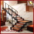 Modelos de escadas em ambientes fechados, metal design escadas de madeira coberta