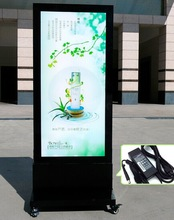advertising battery power led mobile light box