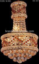 Cheap unique crystal pendant fiber optic light