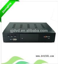 Iptvセットトップボックス受信機の熱いz6sdvb-s2コンボビデオガール