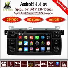 Pure android 4.4 Car DVD GPS for E46 M3 318i 320i 325i 328i with Capacitive screen 1.6G CPU Dual Core 1G RAM