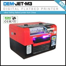 flatbed inkjet leather/PC plastic/PVC phone case printer
