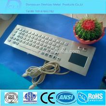 Waterproof and Vander-proof USB Desktop Keyboard Metal Keyboard with Touchpad