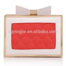 (S20200)PU Quilted Hard Clutch Bag Fashion Lady Handbag New Style Night Bag