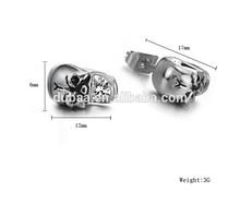 Skull Skeleton Stud Earrings Punk Rock,Jewelry Fashion Personality Men and Women Skull Stud Earring