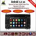 100% puro 4.4 androide auto lettore dvd per mercedes benz b200 w169 a160 Viano Vito navigazione gps bt radio built- in wifi dvr