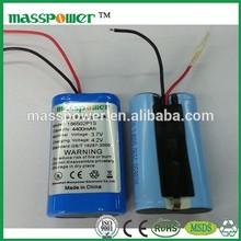 18650 lithium battery pack 1S2P 3.7v 4000mah battery