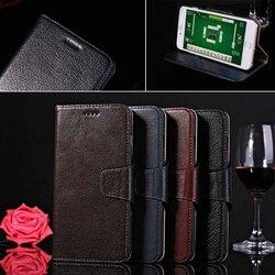 Stand gunuine Leather bag for iphone 6 plus