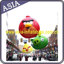 Big fly inflatable helium bird and pig model from cellphone game, large hanging animal for events adn holidays