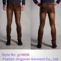 fancy men jeans Brown color skinny fitting