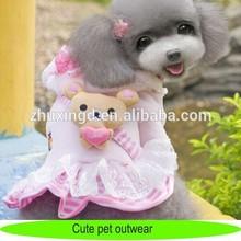 Cloths for dog, cotton cute pet dog sweatshirts cloth with bear doll