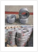 6x19W+IWR galvanized steel wire rope 3/16''mm