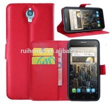 Litchi Pattern Soft Wallet Stand Leather Case For Alcatel One Touch Pop C1 OT4015/Pop C3/Pop C5/Pop C7/Pop C9