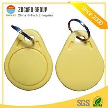 2014 Latest Custom RFID leather Key Fob in Shenzhen