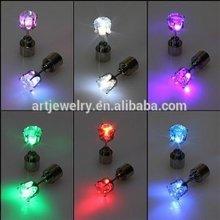 Light Up Stainless Steel Led Earring Stud Dance Party led flash earrings for Xmas Earring