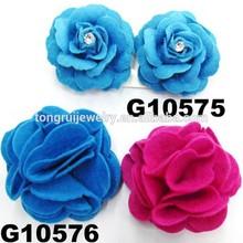 baby rose flower felt hair clip wholesale