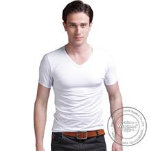 yarn dyed wholesale silk/cotton screenprinting tshirt
