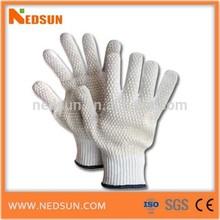 Double side pvc dots top cotton gloves,abrasion resistant gloves