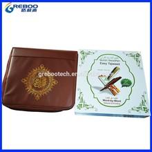 8G Quran reading pen PQ25, big book with big wooden box , 10 booklets