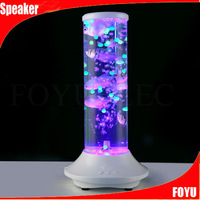 fish cube round shape bluetooth water dancing speakers with LED flash lighting led big dancing water speaker