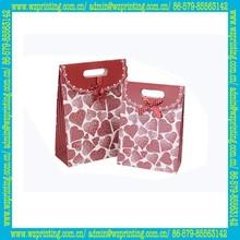 china supplier custom mini decorative valentines paper bag