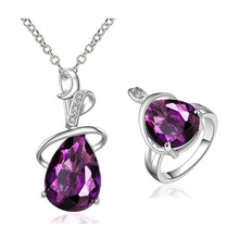 Luxury alloy new design jewelry set, Ladies new lucky crystal jewelry sets wholesales