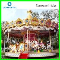 Fairground amusement rides merry go round carousel for sale/24 rides carousel horse