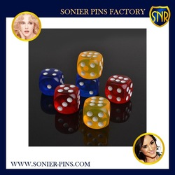 Wholesales plastic new deisgn Dice for Bar ,gambling usage