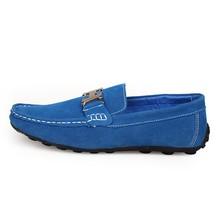 2015 High quality designer suede slip on loafer soften leather shoes
